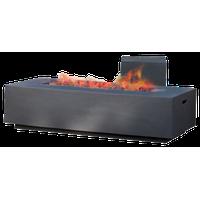 GDF Studio Jaxon Outdoor 50,000 BTU Rectangular Fire Table with Tank Holder, Dar