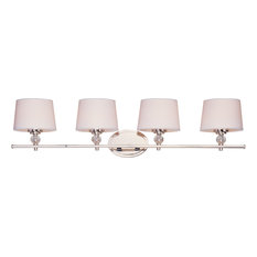 Rondo 4-Light Bath Vanity Sconce, Polished Nickel