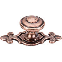 "Top Knobs  -  Canterbury Knob 1 1/4"" w/Backplate - Old English Copper"