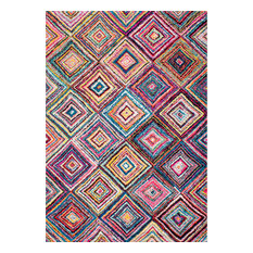 NuLOOM   NuLOOM Checkered Squares Rug, Multicolor, ...