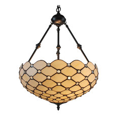 Amora Lighting - Tiffany Style Ceiling Hanging Pendant L& 18-Inch 2 Lights. White  sc 1 st  Houzz & Victorian Pendant Lights | Houzz azcodes.com