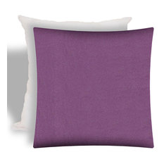 Corina Dusty Lavender Indoor/Outdoor Zippered Pillow Cover With Insert