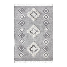 Wilber Woven Gray Area Rug, 5'x8'
