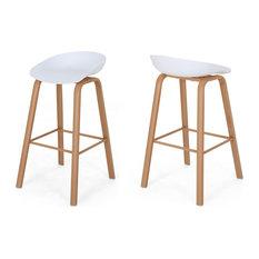 Morgan 30-inch Modern Barstool With Iron Legs Set Of 2