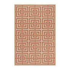 Petani Rust Multipurpose Indoor/Outdoor Rug, 121x182 cm