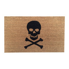 """Hand Painted """"Keep Out"""" Doormat, Black Soul, Skull and Bones Only"""