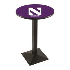 L217 - 42-inch Black Wrinkle Northwestern Pub Table by Holland Bar Stool Co. by Holland Bar Stool Company