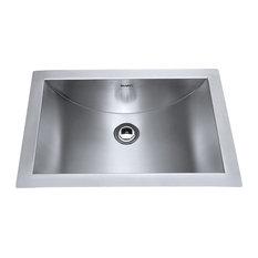 Ruvati   Ruvati RVH6110 Brushed Stainless Steel Bathroom Sink Undermount    Bathroom Sinks