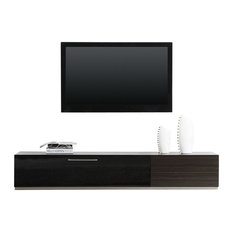 Producer TV Stand Gray Stained Ebony