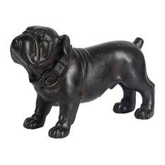 Mercana Industrial Dog Statue, Black