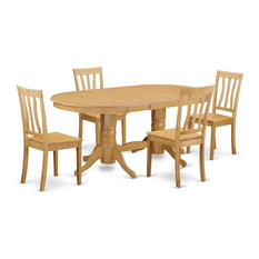 5-Piece Table And Chairs Set Dining Table And 4 Chairs Without Cushion