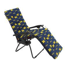 Michigan Wolverines Zero Gravity Chair Cushion, 20x72x2