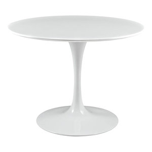 """Modway Lippa 40"""" Round Dining Table in White"""