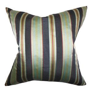 The Pillow Collection Ferlin Stripes Bedding Sham Aqua Green Euro 26 X 26 Throw Pillow Covers Home Kitchen