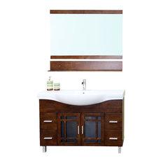 Bellaterra Home   48 Inch Single Sink Vanity Wood Walnut   Bathroom Vanities  And
