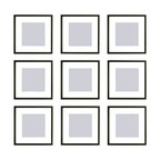 Percy 9-Piece Square Frame Set, Black