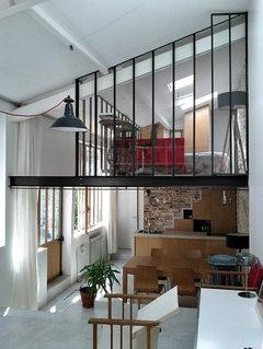 Rampe escalier - Cuisine style atelier artiste ...