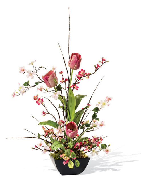 Cherry blossom dogwood and tulip silk flower arrangement cherry blossom dogwood and tulip silk flower arrangement mightylinksfo Image collections