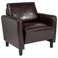 Offex Leather Upholstered Chair, Brown
