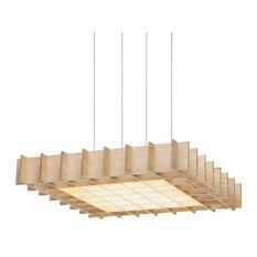 Pablo Designs Grid Pendant Light, Ash Wood, 1 X 1