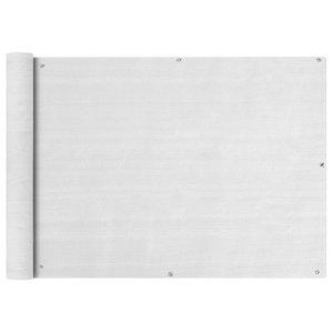 vidaXL HDPE Balcony Screen, White, 75x600 cm