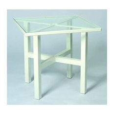 30 in. Elite Square Dining Table - Clear Glass