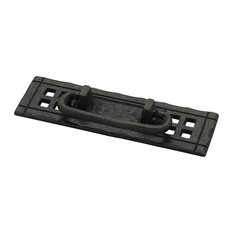 Mission 4-1/4 Inch Center to Center Flat Black Cabinet Bail Pull