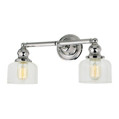 Union Square Shyra 2 Light Bathroom Vanity Light in Polished Nickel