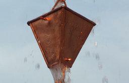 Copper Heirloom Rain Gutter Chain