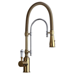 Moen S73004 Weymouth 1 5 Gpm 1 Hole Pull Down Kitchen Faucet Traditional Kitchen Faucets By Buildcom