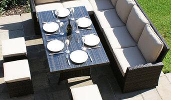 Maze Rattan - Kingston Corner Sofa Dining Set - Brown