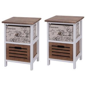 VidaXL Bedside Cabinets, Wood, Set of 2