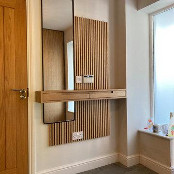 Entranceway Key Shelf and Mirror