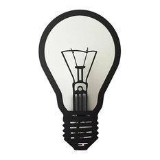 Joro Steel Bulb Wall Lamp, Matte Black