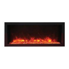 "Panorama Indoor/Outdoor Extra Slim Built In Electric Fireplace, 40"""
