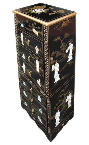Chinese Black Lacquer Furniture Mother Of Pearl  sc 1 st  Style Guru Fashion Glitz Glamour Style unplugged & Asian Lacquer Jewelry Box - Style Guru: Fashion Glitz Glamour ... Aboutintivar.Com