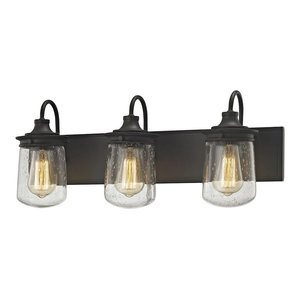 Modern Farmhouse 3 Light Vanity Light in Oil Rubbed Bronze Finish