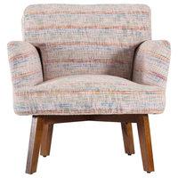 Saskia Arm Chair, Pale Pink