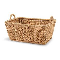 Palm Leaf Euro Market Basket