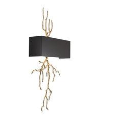 "Brass Branch Wall Sconce | Eichholtz Sorento, Gold, 16""Wx5""Hx33""W"