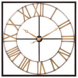 Wall Clock The Tower Xxl Black And Silver 39