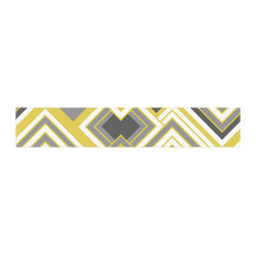 "Jacqueline Milton ""Luca-Gold"" Yellow Gray Table Runner, 16""x90"""