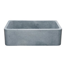 "Reversible Front 33"" Farmhouse Sink, Mercury Granite"