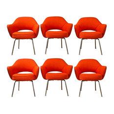 Saarinen Executive Lounge Chairs, Set of 6
