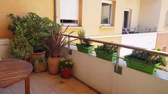 Un aménagement de terrasse en centre-ville   Toulouse
