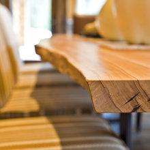 mobilier brut din lemn