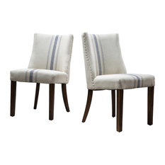 gdfstudio rydel dining chairs set of 2 blue stripe dining chairs