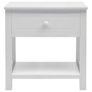 VidaXL Bedside Cabinet, Wood White