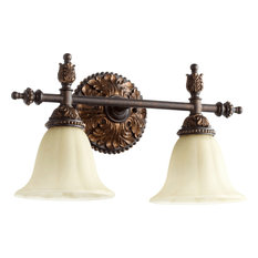 Rio Salado 2-Light Vanity Fixture, Toasted Sienna With Mystic Silver