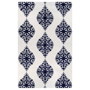 Couristan Crawford 2'x3' Ivory and Blue Rectangle Area Rug